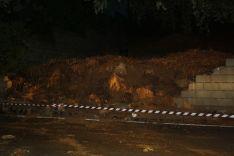 Los bomberos tuvieron que realizar un balizamiento en la zona. // CharryTV