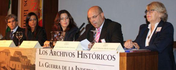 Comienza el III Congreso de Historia y de Archivos de Ronda y la Serranía, La alcaldesa, el concejal de Empleo y la diputada provincial de Cultura han inaugurado el encuentro, 28 Sep 2012 - 16:38