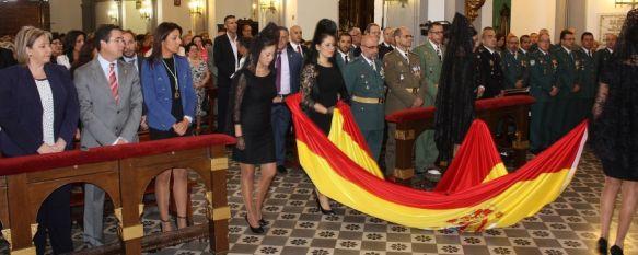 La Guardia Civil celebra el día de la Virgen del Pilar, Numerosas personas se concentraron en la parroquia de Santa Cecilia en el Día de la Hispanidad, 15 Oct 2012 - 10:16