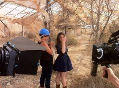 La rondeña, durante el rodaje del videoclip en la isla de Tenerife. // María Villalón