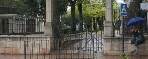 El temporal de viento y lluvia vuelve a provocar varias incidencias en Ronda, Parques y Jardines ha decretado esta mañana el cierre de la Alameda del Tajo, mientras que los bomberos han intervenido para evitar varios desprendimientos, 07 Nov 2012 - 15:56
