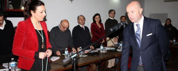 El andalucista Ángel Vázquez jura su cargo como concejal del Ayuntamiento de Ronda, Se hará cargo de las delegaciones de Participación Ciudadana y Parques y Jardines, 23 Jan 2013 - 19:53