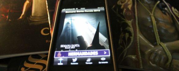 Jesús León crea la primera aplicación para iPhone sobre la Semana Santa de Ronda, Su descarga es gratuita a través de la App Store y permite la consulta de itinerarios, el tiempo o los estrenos de las hermandades, 06 Mar 2013 - 16:05