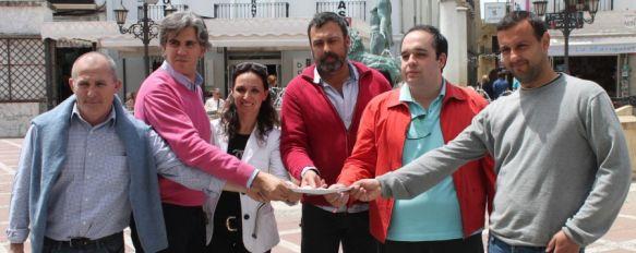 PP, PSOE, IU y PA se unen para luchar por unas comunicaciones dignas, Representantes de los cuatro partidos con representación municipal han comparecido para dar lectura a un manifiesto conjunto , 06 May 2013 - 21:30