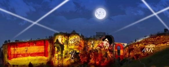 Toma forma el espectáculo audiovisual de Manuel Coronado en las cornisas del Tajo,