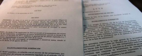 Caso Acinipo: La juez instructora mantendrá bajo secreto sumarial 101 documentos, Las partes han recibido hoy un nuevo auto en el que se precisa que la anterior comunicación
