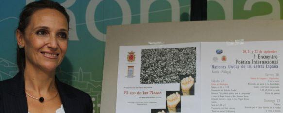 Ronda, sede del I Encuentro Poético Internacional 'Naciones Unidas de las Letras España', El evento se desarrollará los días 20, 21 y 22 de septiembre y contará con más de 30 poetas participantes, 17 Sep 2013 - 18:47