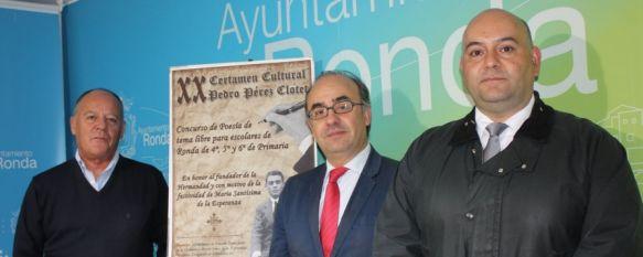 La Hermandad de la Columna presenta el XX Certamen Cultural 'Pedro Pérez-Clotet' , El importe de todos los premios serán canjeables únicamente por libros y material escolar, 19 Nov 2013 - 16:38
