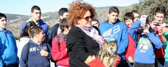 El IES Gonzalo Huesa participa en una jornada de repoblación en el parque periurbano de La Dehesa, También se ha procedido a dejar en libertad a un ejemplar de búho real tras haberse recuperado de sus heridas, 05 Dec 2013 - 18:41