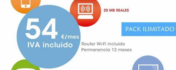 Charry Multimedia te ofrece el pack para los más exigentes por sólo 54 euros al mes, Incluye una línea móvil con llamadas ilimitadas y 1 GB de Internet; fijo con tarifa plana nacional y 60 minutos a móvil; 20 MB reales y router WI-FI gratis, 04 Jan 2014 - 14:42