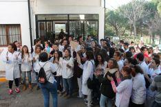 Más de un centenar de alumnos han participado en la concentración.  // CharryTV