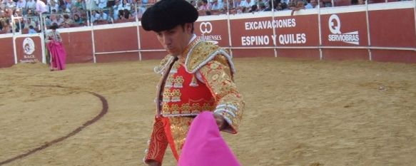 Rafael Tejada sale por la puerta grande en el día de su alternativa, Finito de Córdoba y El Cordobés acompañaron al rondeño en la plaza octogonal de Aguilar de la Frontera , 04 Oct 2011 - 18:49