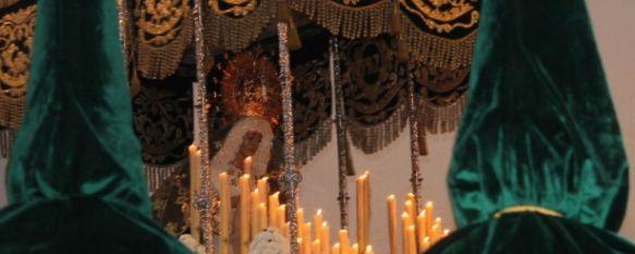 Sentidos a flor de piel en otro atardecer rondeño para la historia del Miércoles Santo, Gentío en San Cristóbal para recibir a Nuestro Padre Jesús en la Columna y la Virgen de la Esperanza tras dos largos años de espera, 16 Apr 2014 - 16:49