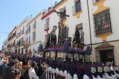 El Cristo de los Remedios, a su paso por María Cabrera.  // CharryTV