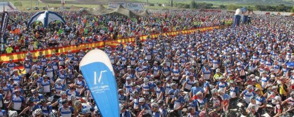Aspecto de la Ciudad Deportiva instantes antes de la salida en la modalidad de Bicicleta de Montaña. // CharryTV