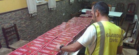 Detienen a una persona e intervienen 4.884 cajetillas de tabaco en la Serranía de Ronda, La Guardia Civil ha denunciado a ocho locales públicos y dos particulares por los mismos hechos, 30 Jul 2014 - 16:51