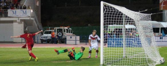 Ronda se volcó con la Selección Española Sub-17 en la victoria ante Alemania (2-0), El combinado de Santi Denia fue superior y acabó imponiéndose en la recta final con goles de Pepelu y Burnic, en propia puerta, 09 Oct 2014 - 22:45