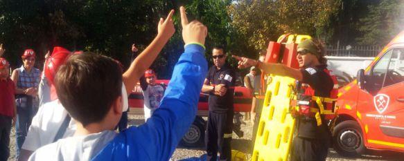 Más de 850 alumnos rondeños participan en la IX Semana de la Prevención de Incendios, El Consorcio Provincial de Bomberos ha mostrado los medios materiales con los que cuenta y la labor que realizan los efectivos, 29 Oct 2014 - 19:39