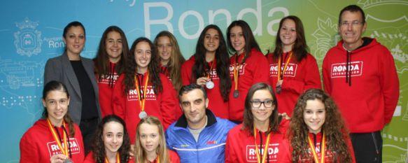 Dos equipos rondeños se alzan con el subcampeonato nacional de Orientación por Centros, Se ha reconocido el trabajo y el esfuerzo que vienen manteniendo estas jóvenes estudiantes del Instituto Martín Rivero, 28 Nov 2014 - 19:21
