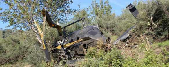 Los dos fallecidos en el accidente de helicóptero que transportaba droga huían de la Guardia Civil, En la zona se ha localizado cerca de una tonelada de hachís, según fuentes cercanas a la investigación, 28 Jan 2015 - 17:18