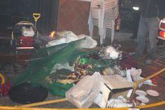 Decenas de túnicas han quedado totalmente calcinadas. // CharryTV