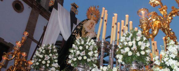 María Santísima en la Soledad llora a su hijo ante el madero en el que fue crucificado, Ronda se vuelca con la última Hermandad de Pasión de nuestra Semana Santa , 04 Apr 2015 - 01:21