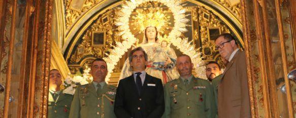Ofrenda floral de La Legión a la Patrona de Ronda antes de partir al Líbano, En la misión participarán 225 legionarios perteneciente al IV Tercio Alejandro Farnesio, 11 Nov 2015 - 19:10