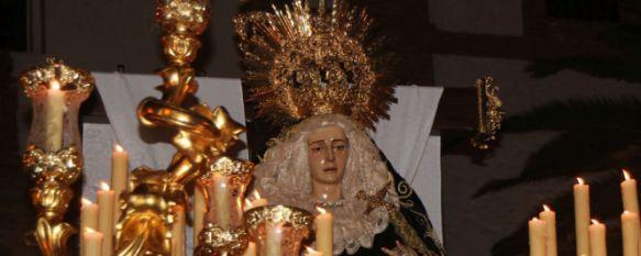 El luto de María Santísima en la Soledad congrega a cientos de fieles por las calles de Ronda, La Hermandad ha puesto el broche de oro a un esplendoroso Viernes Santo, 25 Mar 2016 - 21:43