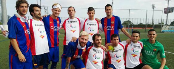 Marcelo Rosado graba un spot para los Paralímpicos de Río con Messi y otros jugadores del Barça, Aparece junto a compañeros de la Selección Española de fútbol para invidentes y representantes de UNICEF , 19 Aug 2016 - 16:00