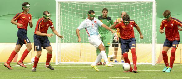 Marcelo Rosado, sexto con la Selección de Fútbol para invidentes en Río de Janeiro, España cayó ante Turquía en la tanda de penaltis en el partido por el diploma olímpico, 19 Sep 2016 - 19:21
