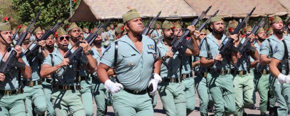 Ronda se vuelca con La Legión en la Formación conmemorativa de su XCVI Aniversario Fundacional, Durante el acto fueron nombrados Legionarios de Honor el historiador Fernando Cabo y el joven murciano Kiko Arcas , 20 Sep 2016 - 18:54