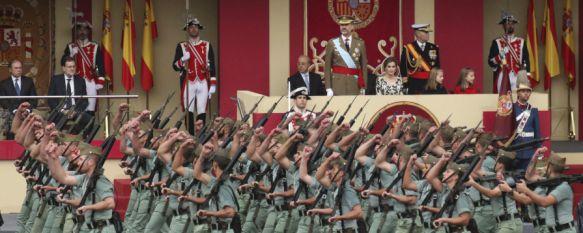 El Tercio Alejandro Farnesio participó con 287 efectivos en el desfile del Día de la Hispanidad, El Coronel Julio Salom estuvo al mando de la agrupación, que despertó una gran expectación en Madrid , 13 Oct 2016 - 13:17