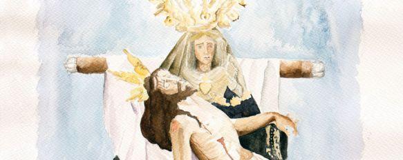 La Agrupación de Hermandades y Cofradías presenta el cartel oficial de la Semana Santa , Su autora es la joven artista local Dolores Lobato Ruiz y está dedicado a la Hermandad de Las Angustias , 03 Feb 2017 - 21:30