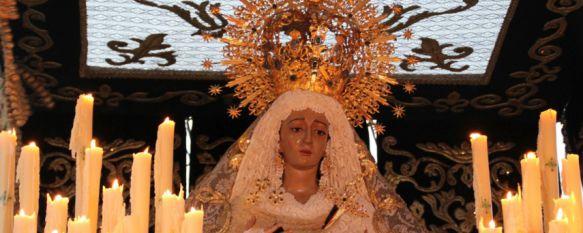 El Miércoles Santo arranca con el fervor y la esperanza de la Hermandad de La Columna, La Novia de Ronda ha procesionado por primera vez con un vestido verde , 12 Apr 2017 - 13:14