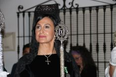 La presidenta de las Damas Goyescas, Ana Gómez, vestida de mantilla // CharryTV