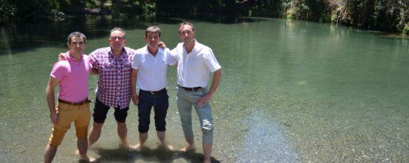 De izquierda a derecha, los alcaldes de Genalguacil, Gaucín, Algatocín y Jubrique // CharryTV