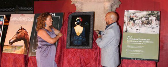 El pintor Jesús Ortiz ha sido el creador del cartel oficial. // CharryTV
