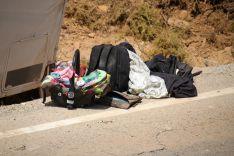 En la autocaravana viajaba un bebé de un mes, que no ha sufrido daños  // CharryTV