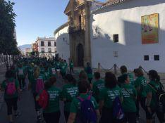La marcha contó con una considerable participación de público. // CharryTV
