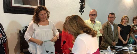 María Paz Aguilar toma posesión de su cargo como concejal del Ayuntamiento de Ronda, La edil estará al frente de las delegaciones de Participación Ciudadana y Pedanías, como su antecesor José María Jiménez, 26 Sep 2017 - 19:43