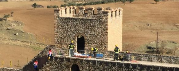 Rescatan a un turista francés que se precipitó desde la torre más alta de las Murallas del Carmen, En las próximas horas será intervenido de fracturas en extremidades inferiores y superiores , 13 Nov 2017 - 13:11