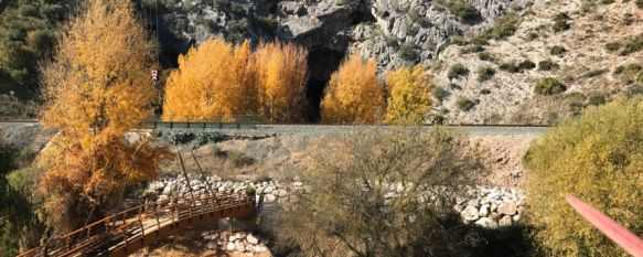 La mejora del acceso a la Cueva del Gato y su entorno concluirá a inicios de diciembre, Hoy se ha instalado el nuevo puente sobre el río Guadiaro,…, 21 Nov 2017 - 17:01
