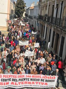 La manifestación contó con más participantes que en el 24 de diciembre. // CharryTV