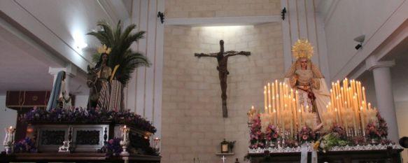 La lluvia impide la salida procesional de La Pollinica en el inicio del Domingo de Ramos, El año que viene está previsto el estreno de la nueva imagen de Nuestro Padre Jesús en su Entrada Triunfal en Jerusalén , 25 Mar 2018 - 13:25