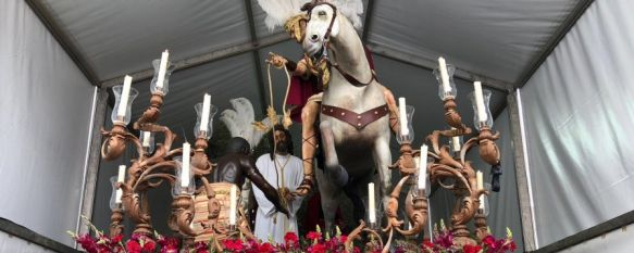 El Prendimiento tampoco sale del templo de San Cristóbal por la amenaza de precipitaciones, La hermandad estrenaba un juego de potencias doradas para el Señor y el acabado de la talla frontal del Misterio  , 25 Mar 2018 - 21:50