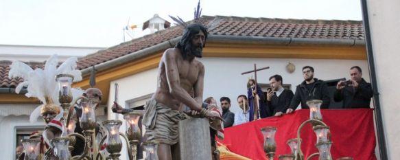 San Cristóbal recibe con fervor a La Columna en el inicio del Miércoles Santo , Diego Sánchez se estrena como Hermano Mayor de una junta que ha experimentado un importante relevo generacional , 28 Mar 2018 - 22:33