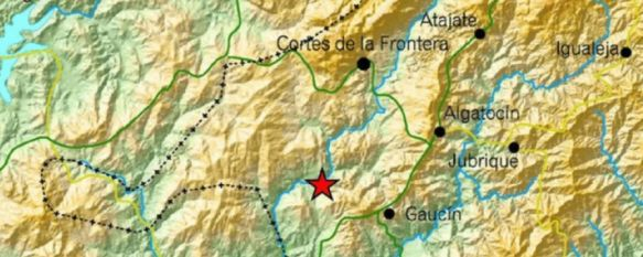 Registrado un terremoto de 4,5 grados en la Serranía, con epicentro en Gaucín