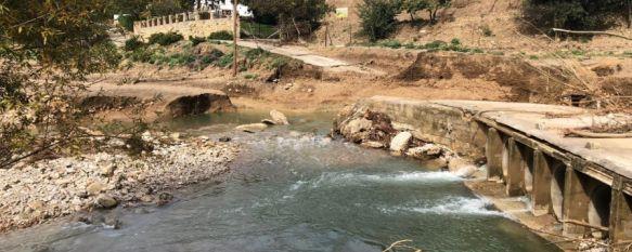 Uno de los parajes más afectados por las consecuencias del temporal ha sido Los Molinos del Tajo en el que uno de sus puentes se ha desprendido. // CharryTV