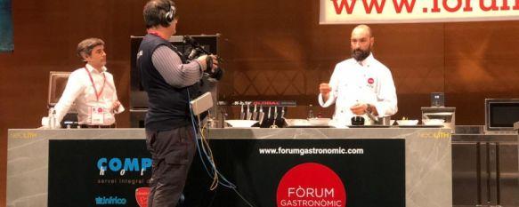 El chef estrella Michelin de Bardal lleva hasta Girona los productos de la Serranía, Benito Gómez ha participado en el fórum gastronómico de esta ciudad para mostrar la importancia de los ingredientes autóctonos en su cocina, 20 Nov 2018 - 19:20