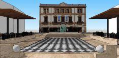 La nueva remodelación busca ensalzar los emblemas del andalucismo como la figura de Hércules con los leones y las columnas que figuran en la bandera de Andalucía. // CharryTV